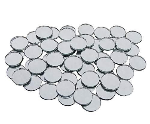 PEEGLI Handwerk Mosaik Spiegel Fliesen Kleine Runde Glasspiegel Verzierungen Zubehör Home Decoration DIY Art 100 Stück - 0.5 Zoll