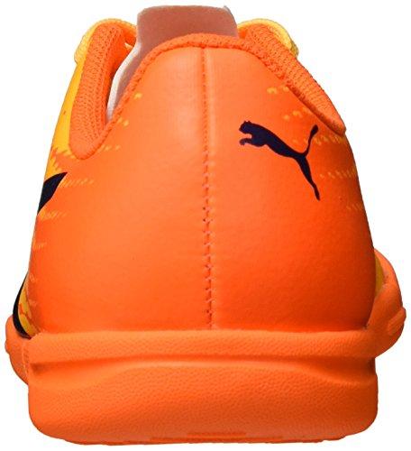 Puma Unisex-Kinder Evospeed 17.5 It Jr Fußballschuhe Gelb (ultra yellow-peacoat-orange clown fish 03)