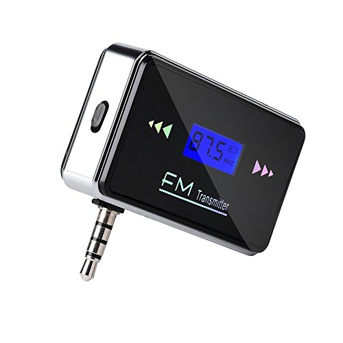 Auto FM Transmitter - SODIAL(R) Drahtlos 3.5mm In-Auto Wireless FM Transmitter Auto-Radio-Adapter Audio + KFZ-Ladegeraet fuer iPhone 6 6Plus 5S 5C 5 5G 4S 4 iPad 2 3 4 5 ipad mini iPod MP3-Player Tablet - Unterstuetzung Hands free (Schwarz)