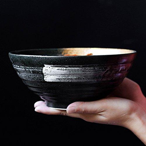 Bol de salade en céramique de style japonais bol de soupe 900ml vaisselle vaisselle bol ramen des ménages bol