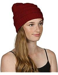 Bonnet Slouch unisexe tricoté, pour un look fabuleux lors de vos activités hivernales.