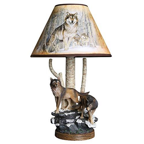 Schreibtischlampe Tier Harz Wolf Kinder Schlafzimmer Nachttischlampe Kreative Handgemachte Beleuchtung Schreibtisch Licht Für Wohnzimmer Studie Leselampe E27 -