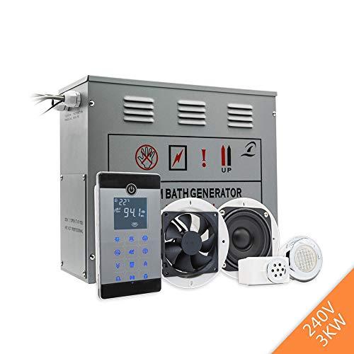 MICHEN Stromversorgung 3KW 220-240 V Kleine Nassdampfbad Sauna Generator Für Dusche Spa Mit Bluetooth Zubehör Sicherheitsventil Auto Drain -