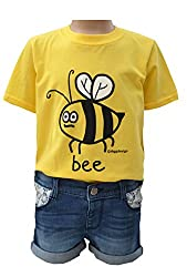 Womens 'Bee' yellow fitted T.shirt