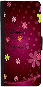 Snoogg Cute Flower Graphic Designer Protective Phone Flip Case Cover For Zenfone Max