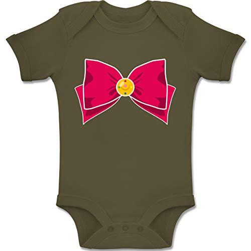Shirtracer Karneval und Fasching Baby - Superheld Manga Moon Kostüm - 12-18 Monate - Olivgrün - BZ10 - Baby Body Kurzarm Jungen Mädchen (Superman 12 18 Kostüm Monate)