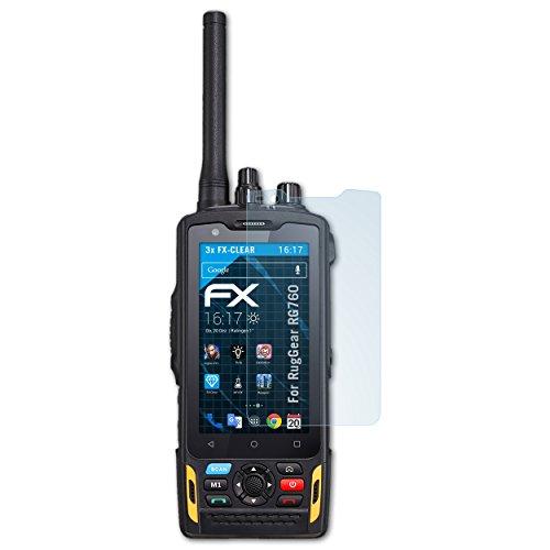 atFolix Schutzfolie kompatibel mit RugGear RG760 Folie, ultraklare FX Bildschirmschutzfolie (3X)