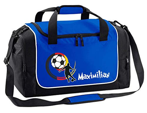Mein Zwergenland Sporttasche Kinder | Praktisch, kompakt & robust | Sporttasche klein | Deutschlandball als Aufdruck | Farbe Royal | 38 L Stauraum - die perfekte Sporttasche für Kinder!