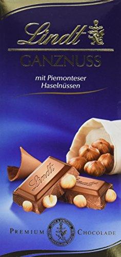 Lindt & Sprüngli Ganznuss Tafel, 5er Pack (5 x 100 g)