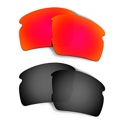 ff55d848090 Hkuco Mens Replacement Lenses For Oakley Flak 2.0 XL Sunglasses Red Black  Polarized