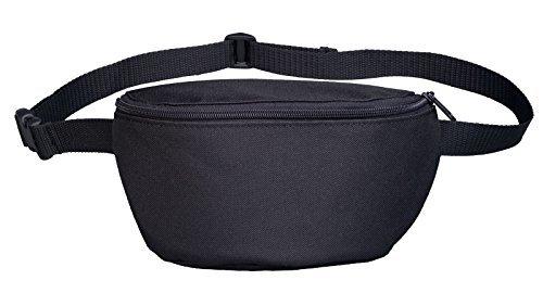 Bauchtasche - Schlicht Schwarz - Hipbag Schwarz Schwarz