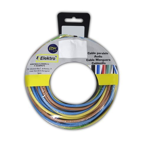 Angelrolle cablecillo 2,5 mm 3 Kabel (az-m-t) 20 mts x Farbe 60 MT