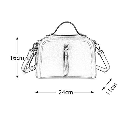 Mena UK Borsa di cuoio molle del progettista della signora del progettista della borsa del progettista borse grandi della spalla ( Colore : Pink+Purple , dimensioni : 24cm*11cm*16cm ) Pink+Purple