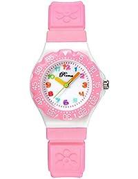 Los niños reloj de cuarzo Fashion Casual relojes de pulsera reloj de niños niñas niños estudiantes muñeca watches-pink