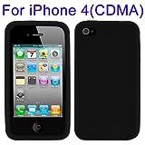 R-Tech24 Housse de protection en silicone pour iPhone 4/4S Noir