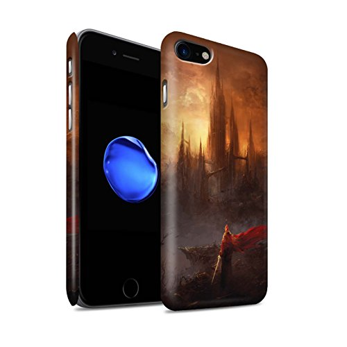 Offiziell Chris Cold Hülle / Matte Snap-On Case für Apple iPhone 7 / Industrie Maschine Muster / Gefallene Erde Kollektion Shadowgate Schloss