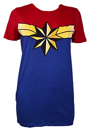 Marvel Captain Marvel Costume Cosplay Tee Graphic Adult ()