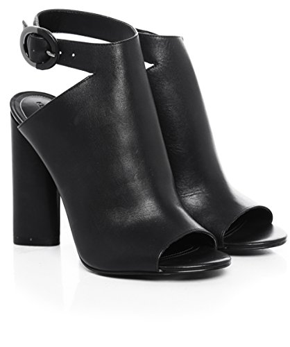 Kendall and Kylie Kkgigi, Sandales Compensées femme Schwarz (Black Dress Calf Leather)