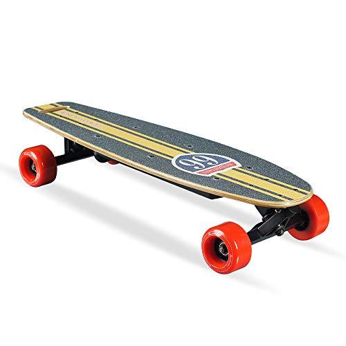 Smarthlon Elektrisches Skateboard mit Fernbedienung, 28 '' Elektro Longboard mit Multi-Layer Maple Fiber, 1000W Motor Electric Skateboard, 10 km Reichweite 25 km/h Top Speed (Route)