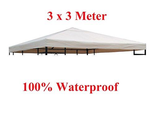 TOAKS Carpa para Techo 3x 3m/3x 4m Resistente al Agua Verde/Beige Carpa Techo, Color Beige, tamaño 3x3
