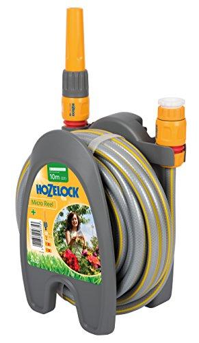 Hozelock - Micro carrete portamangueras con 10 m de manguera y todos los accesorios - listo para su uso