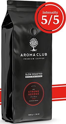 Aroma Club Café en Grano 1kg - Dark Roast Strong George – Café Brasil Tueste Lento – Certificación Carbono Neutro