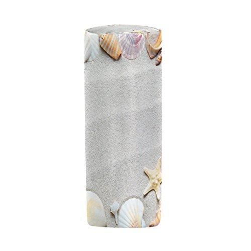 Bleistift Fall Zylinder Form Halter Beach mit Seestern und Sand Muscheln Stift Stationery Tasche Tasche mit Reißverschluss Make-up