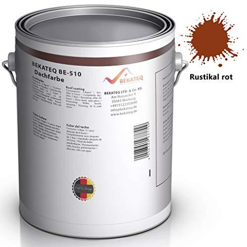 BEKATEQ BE-510 Dachbeschichtung seidenmatt Dachfarbe für diverse Arten von Dächern (Dunkelrot / 1L)