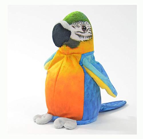 """Kögler 75956 - Laber Papagei """"Sunny"""", Labertier mit Aufnahme- und Wiedergabefunktion, plappert alles witzig nach und bewegt sich, ca. 21 cm groß, ideal als Geschenk für Jungen und Mädchen"""