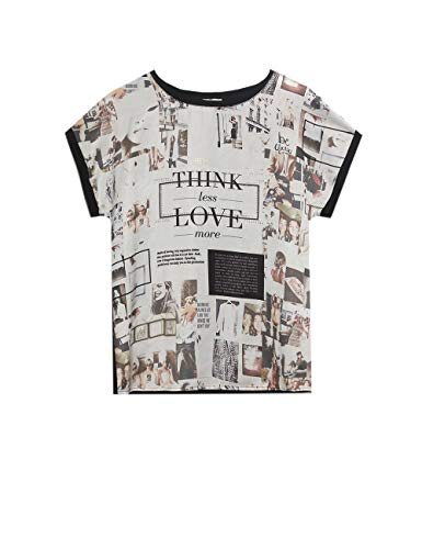 Italian Size T-Shirt bimaterica con Stampa Oltre