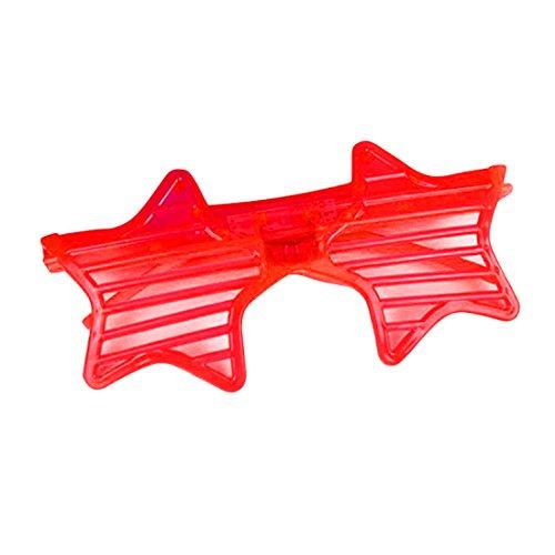 Led Light Glasses for Flash Party Halloween Christmas Luminous Decor Red Star