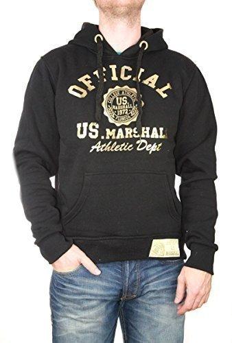US Marshall Hoodie Official schwarz-gold, HS 719, Gr. XXL