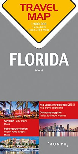 Carte de voyage Floride 1 : 800 000 par  Collectif