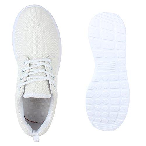 Modische Herren Sportschuhe | Freizeit Sneaker Snake | Laufschuhe Runners Trainers | Sneakers Schuhe Weiss Agueda