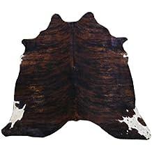 Zerimar Alfombra piel de vaca Medidas: 195x175 cms 100% Natural Piel procedente de Brasil, consideradas las mejores pieles bovinas del mundo por su curtición y brillante pelo