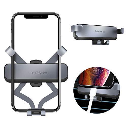 Semriver Handyhalterung Halter,360 Grad Magnet Auto Halterung für iPhone X/XS/XR/XS Max/8/7 Plus,Samsung S10+/S10/S9, Huawei (Grau) (Entsperrt Iphone 6 Plus)