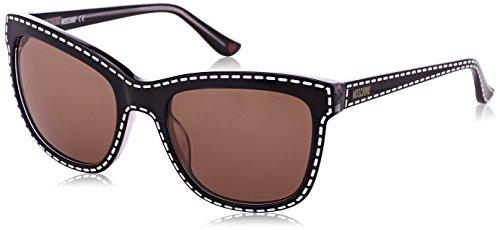 Moschino Damen MO759S-01SA-55 Sonnenbrille, Braun, 61