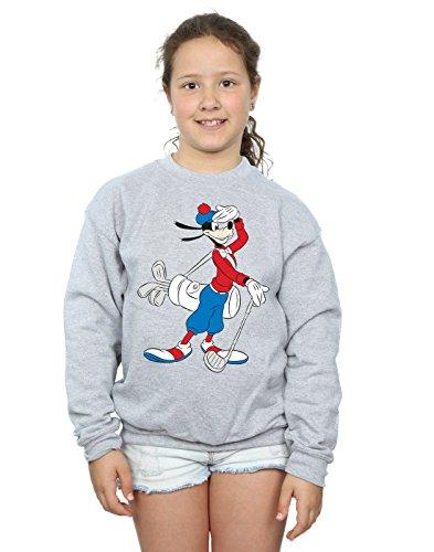 Disney Mädchen Goofy Golf Sweatshirt 9-11 Years Sport Grey