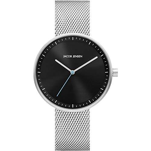 Jacob Jensen Strata 288 Ladies Watch with Black Dial and Steel Mesh Strap