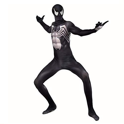 ZHANGQI Venom Symbiote Spiderman Cosplay Body Anime Anzug Erwachsene Kinder Lycra Spandex Spinne Kostüm Mit Reißverschluss,Child-M (Mary Jane Spiderman Kostüm)