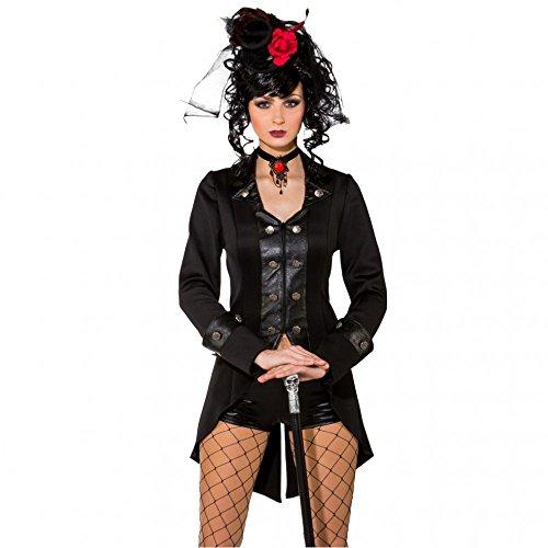 Damen Gothic Jacke Gr. 38/40 Frack Kurzmantel Leder Fasching Festival Kleidung