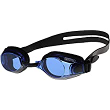Arena Zoom X-Fit swimming goggles, Unisex, Schwimmbrille Zoom X-Fit, Black- Blue- Black, One Size