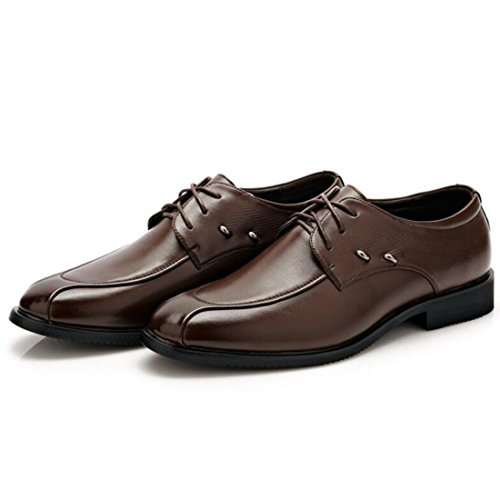 Men's Artificial PU Leather Flats Dress Shoes brown