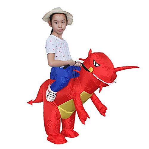 Lustige Kostüm Rote Aufblasbare - bloatboy Halloween Kind Aufblasbare Dinosaurier T-Rex Cosplay Kleidung, Party Overall Kostüme Aufblasbare Karneval Lustige Halloween Kleidung (Rot)