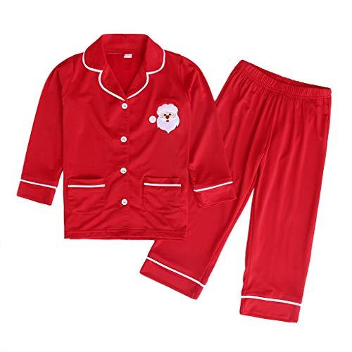 Comie Kinder Winter Kleidung Sets, Babykleidung Mädchen Winter Neugeborenes Baby Tops T Shirt Outfits Set Winterkleidung Eingestellt, Baby Weihnachtsmann Tops Hosen Schlafanzug Nachtwäsche Set
