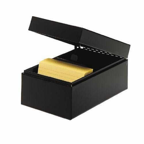 STEELMASTER Steel Card File Box, Fits 4 x 6 Index Cards, 900 Card Capacity, 6.5 x 5 x 8.5 Inches, Black (263846BLA) by STEELMASTER (Index Box 4x6 Card File)