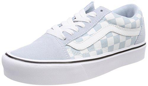 Vans Unisex-Erwachsene Old Skool Lite Sneaker, Blau (Suede/Canvas), 35 EU