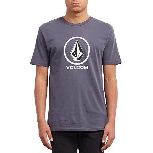 Volcom Herren Crisp Stone BSC SS T-Shirt, Midnight Blue, S - Midnight Blue Shirt