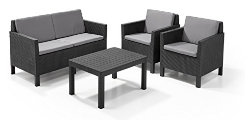 allibert by keter chicago 2 seat balcony lounge set outdoor garden furniture search furniture. Black Bedroom Furniture Sets. Home Design Ideas