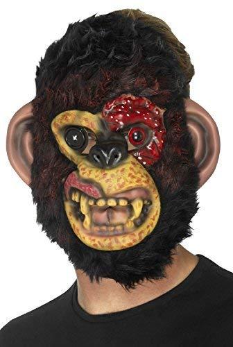 Fancy Me Herren Damen Zombie Schimpanse AFFE Tier Böse Gruselig Gesichtsmaske Halloween Kostüm Kleid - Zombie Schimpanse Für Erwachsene Kostüm